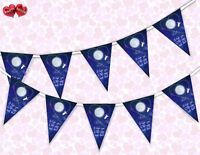 I Love You (moon) Valentines Day Themed Bunting Banner 15 flags by PARTY DECOR