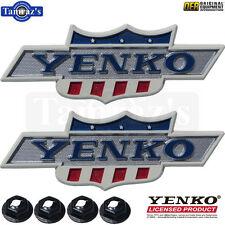 """68-69 Camaro Nova """" YENKO """" Emblem DieCast Metal YOLP LICENSED Product PAIR OER"""