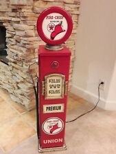 "42"" Texaco Fire Chief Gas Pump Cabinet with light. Man Cave/Gameroom Decor."