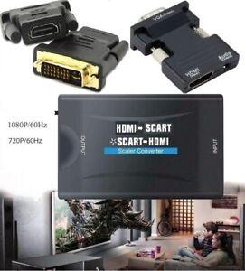 HDMI SCART, SCART HDMI, HDMI VGA Konverter  Audio Gehobenen Video Adapter 1080P