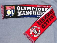 Echarpe Football Collector 2008 Coupe d'Europe - Olympique Lyonnais Manchester