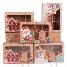 12pcs Christmas Cookie Candy Gift Box Chocolate Muffin Cupcake Bakery Xmas Party