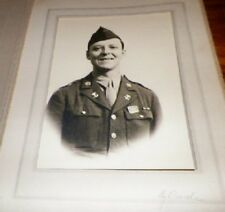 Old Antique Vintage Cabinet Card Photograph Military Man in Uniform