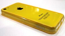 Yellow Clear Soft TPU Protector Bumper Frame Snap Case Cover for Apple iPhone 5C