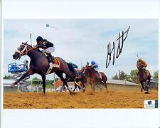 GARY STEVENS Signed 8x10 Photo Aboard OXBOW Preakness Stakes HOF Jockey GAI