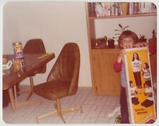 Vintage 70s PHOTO Little BOY w/ Pogo Stick Box