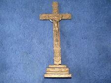 Croce 200 anni fa crocifisso stagno su legno