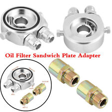 Oil Filter Sandwich Plate Adapter M20x1.5 - 1/8'' NPT Ports - 10An Outlet Inlet