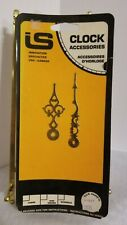 """VINTAGE CLOCK HANDS HOUR & MINUTE INNOVATION SPECIALTIES GOLD TONE 3.5"""" & 2.6"""""""