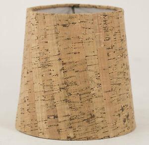 Cork Shade, Hardback ,4x5x5,Candle Clip Fitter