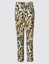 Marks and Spencer Polyester Loose Fit Trousers for Women