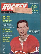 1967 (Mar.) Hockey Pictorial Magazine, Bobby Rousseau, Montreal Canadiens ~ Fair