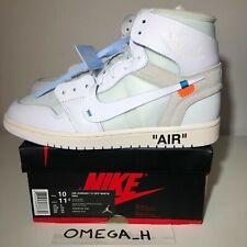 OFF WHITE NIKE AIR JORDAN 1 AQ0818-100 Sneakers WHITE US 10 UK 9 EU 44 NEW DS