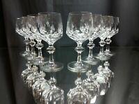 "SET OF 8! Gorham Claret Wine Glasses ""Alexandra"" NEAR MINT! Vintage Crystal"