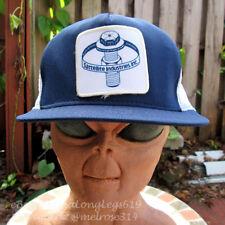 Vintage Sattellite Industries Inc Patch Mesh Snapback Hat Cap Plumber Construct