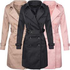 Trenchcoat Damen Designer Mantel Jacke Übergangs Jacke Vintage Mantel D-312 S-XL