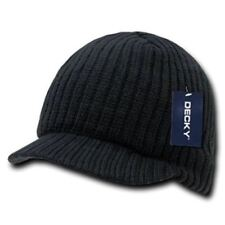 Black Campus Beanie Cap Knit Skully Winter Hat Radar Style Jeep Ski Brimmed