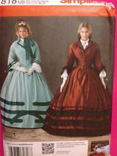 Simplicity Sewing Pattern 1818 Misses / Ladies Historical Costume Size 8-14 UC