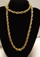 Cadena para hombre trenzada 55 cm con oro amarillo gold filled 18 kt