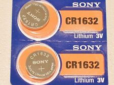 Sony Set of 5 CR1632 3V Lithium Coin Batteries