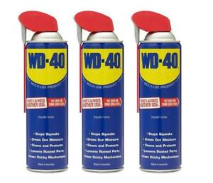 WD-40 LUBRICANT MULTI-USE PRODUCT LUBRICATES WITH SMART STRAW 429mL 3 PACK