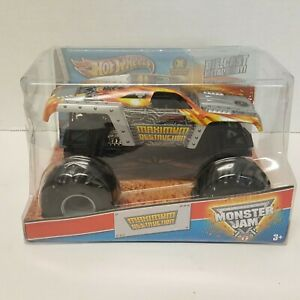Hot Wheels Monster Jam  Tom Meents Maximum Destruction Truck Metal 1/24 Rare