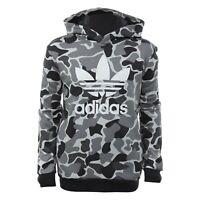 adidas Camo Hooded Sweatshirt Camouflage Junior Boys Hoodie Hoody Age 6-10 Years