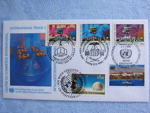 UNO Trio Brief, FDC vom 2.02.1990