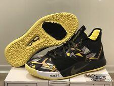 Nike PG 3 Mamba Mentality Kobe Black Yellow Basketball Shoes AO2607-900 Mens