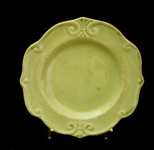 """Embossed Scrolls / All Green By Home  SALAD PLATE 8 1/8"""""""