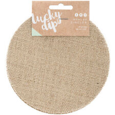 Kaisercraft Lucky Dip Burlap Shape Circle 5.5 Inches 4 Pieces per Package