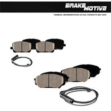Front and Rear Ceramic Brake Pads Rubber Shims For 2000 - 2006 BMW X5 3.0i 4.4i