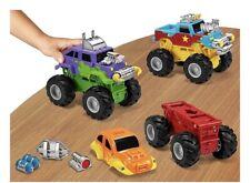 Euc Lakeshore Learning Snap & Design Pull Back Monster Trucks In Box