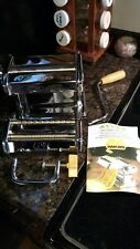 Marcato Atlas 150Deluxe Pasta Maker Stainless Steel Made in Italy Noodle Machine