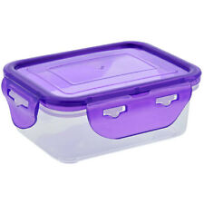 Sure Fresh 11oz Square Plastic Food Storage Containers Clip-Lock Lids Free Ship
