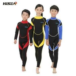 UK Boys Girls Full Length Wetsuit Warm Wetsuit Kid Surf Swimming 2.5mm Wetsuit