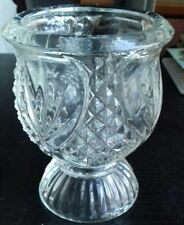 Avon Vintage Crystal Glass Candle Holder  Tulip Clearfire 1980-82