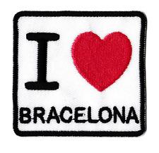 Écusson patche Bracelona Barcelone avec erreur patch thermocollant