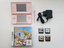 Nintendo DS Lite Rose Handheld-Spielkonsole mit 5 Spielen