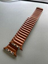 Apple Leather Link Band for Watch Series 6 and SE - Saddle Brown, M/L (44mm)
