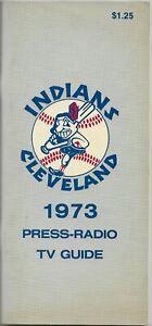 1973 CLEVELAND INDIANS MLB MEDIA GUIDE VINTAGE