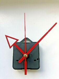 Quartz Clock Movement - Red Sweeping Hands - AA Battery Powered - Mechanism UK
