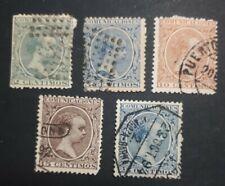 1889-1899 - ESPAÑA - EDIFIL 213, 215, 217, 219, 221 - Alfonso XIII
