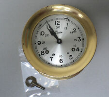 NICE VINTAGE BOSTON CHELSEA CLOCK USA BRASS SHIP'S BELL CLOCK, 5.75""