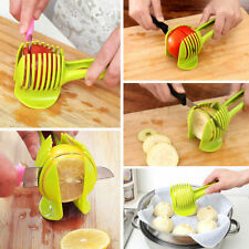 Durable Green Food Tomato Onion Lemon Vegetable Fruit Slicer  Peel Cutter Holder