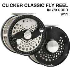Fliegenrolle #7/9 CLA Fly Reel Fliegenfischen Aluminium CNC Large Arbor, Graphit