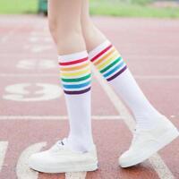 Women High Striped Over Knee Long Socks Stockings Stripe Tube Soccer Football S