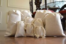 3 x 4 Inches Cotton Double Drawstring Bag Muslin Bag. Count 100