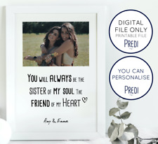 Best Friend Gifts, Sister Friendship Gifts, Personalised Birthday Friend Gifts