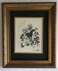 MARC CHAGALL 1985 BEAUTIFUL SIGNED PRINT MATTED 11 X 14